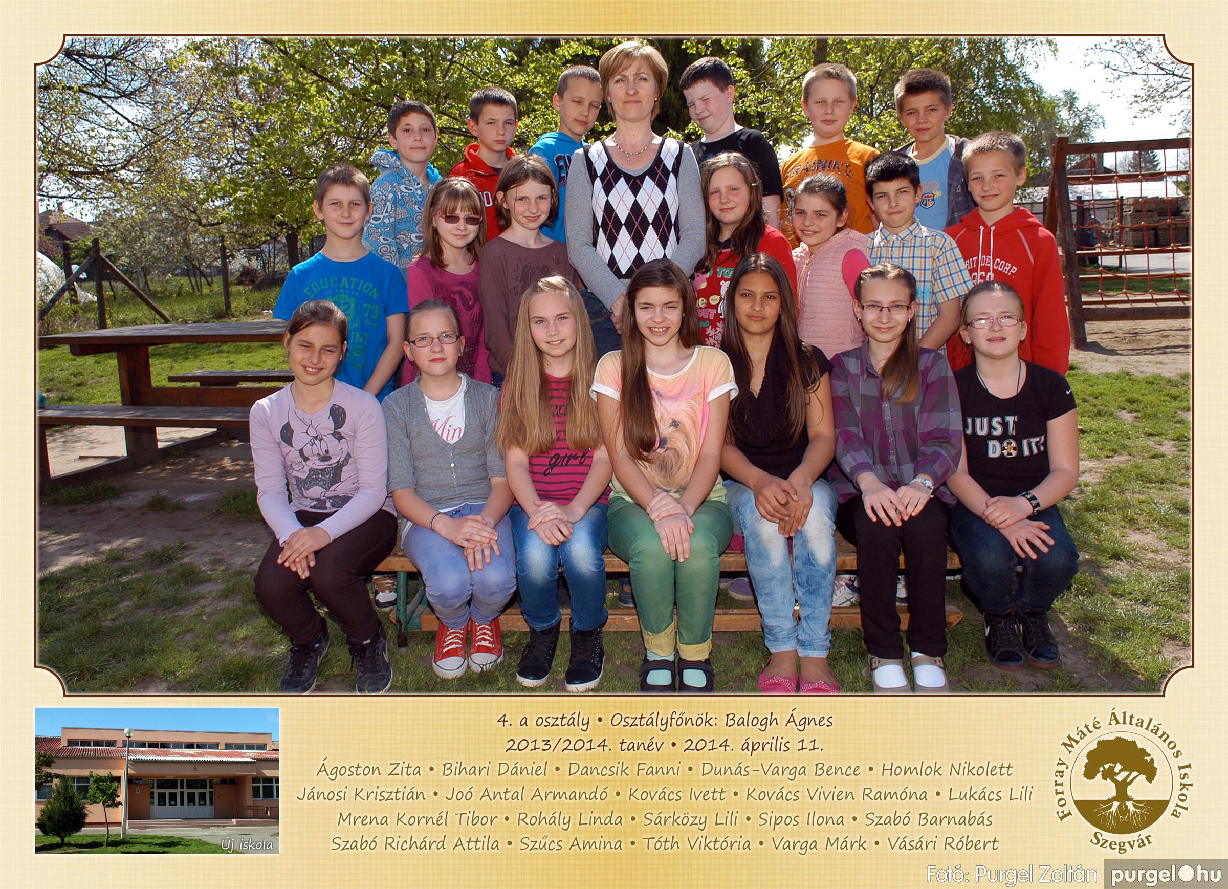 2014.04.11-05.19. 013 Forray Máté Általános Iskola osztályképek 2014. - Fotó:PURGEL ZOLTÁN© 4a-1.jpg
