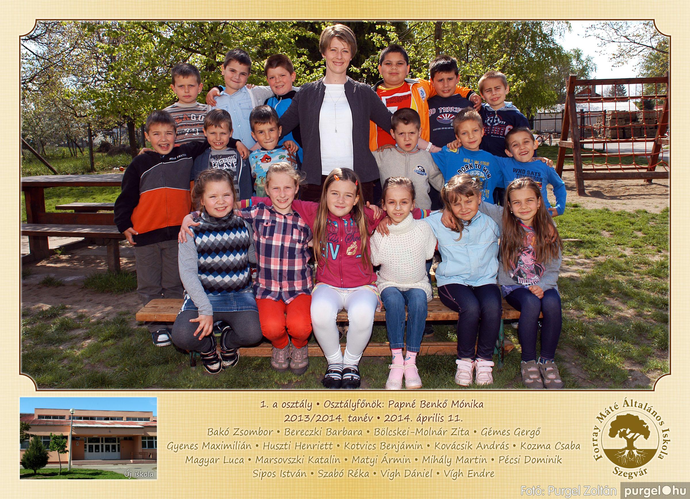 2014.04.11-05.19. 002 Forray Máté Általános Iskola osztályképek 2014. - Fotó:PURGEL ZOLTÁN© 1a-2.jpg