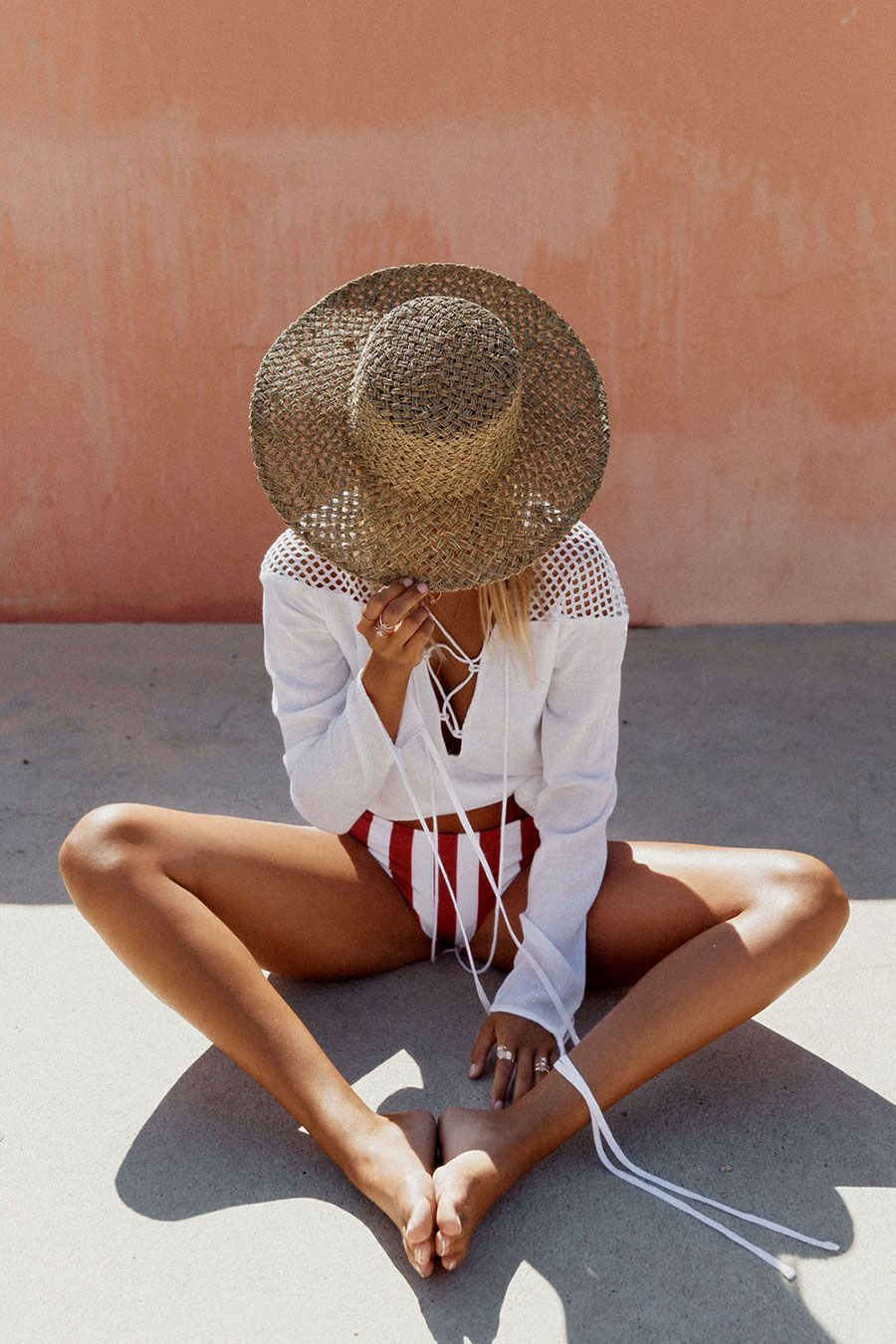 summer inspiration beach days street style outfit 20196
