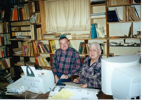 Howard Daniel and Niel Nielsen at Nielsen's home