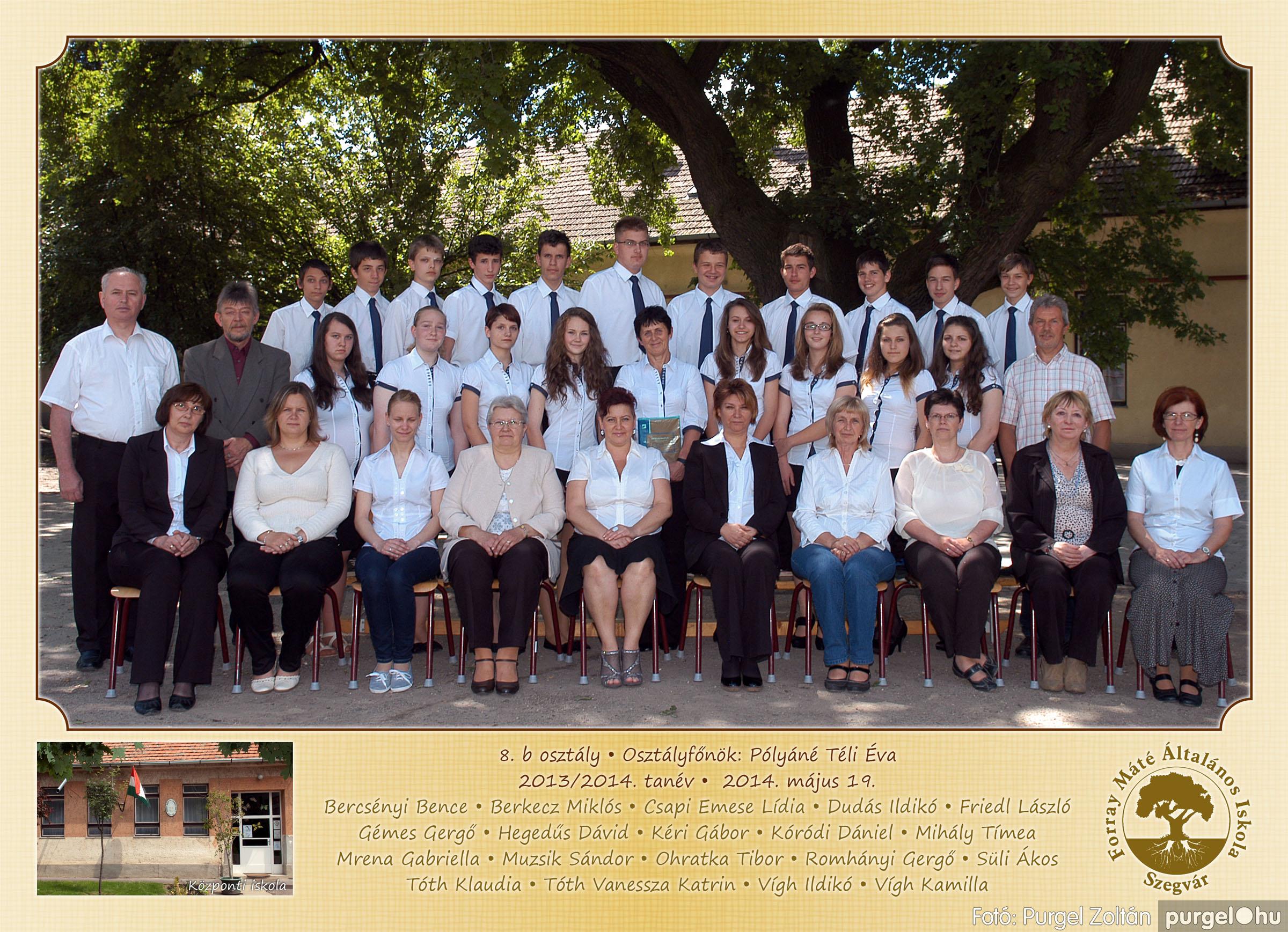2014.04.11-05.19. 030 Forray Máté Általános Iskola osztályképek 2014. - Fotó:PURGEL ZOLTÁN© 8b.jpg