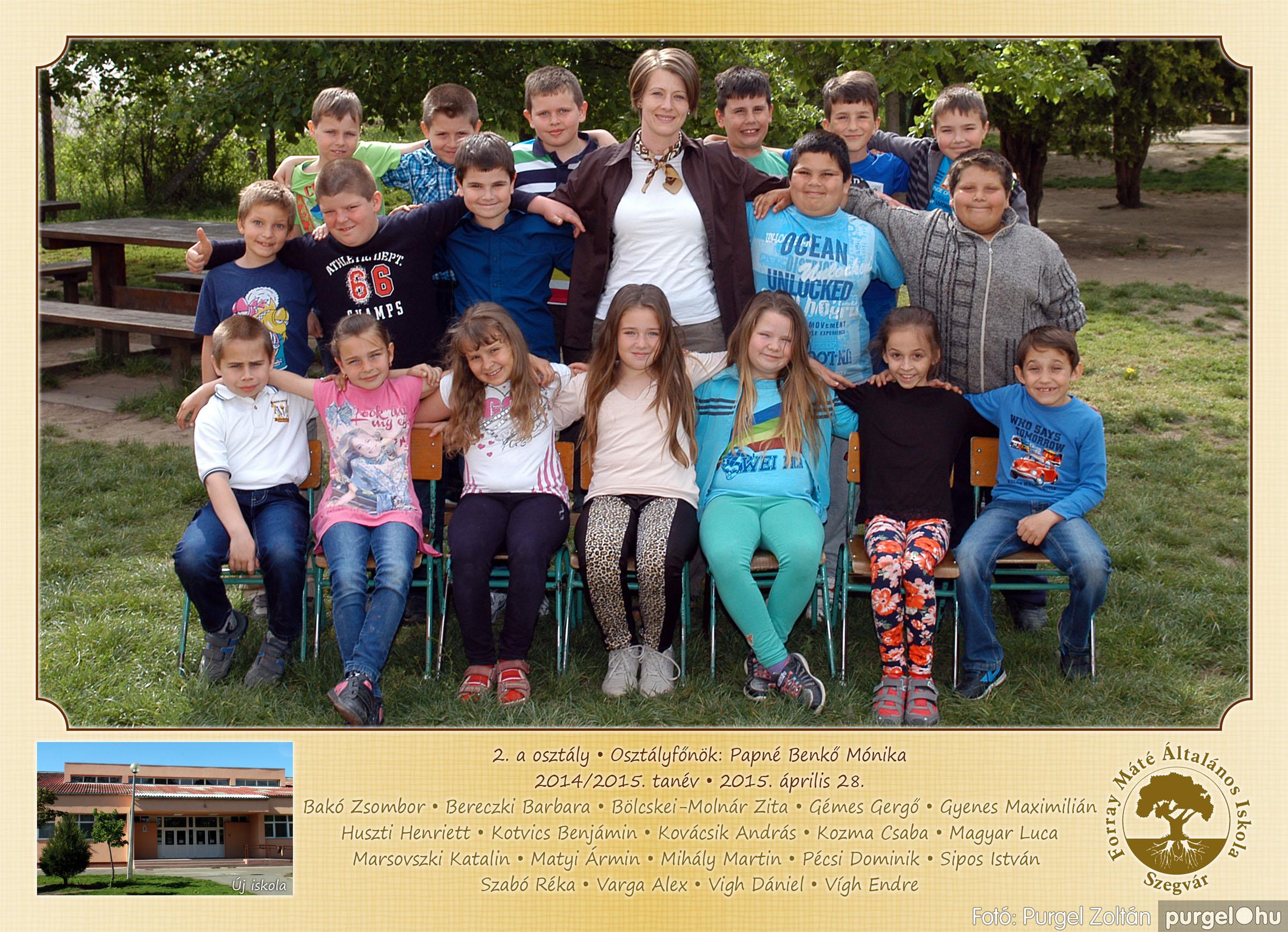 2015.04.28-05.13. 006 Forray Máté Általános Iskola osztályképek 2015. - Fotó:PURGEL ZOLTÁN© 2a-2.jpg