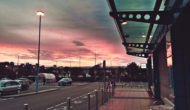 Sunset At Morrison's Supermarket Car Park (Norwich)