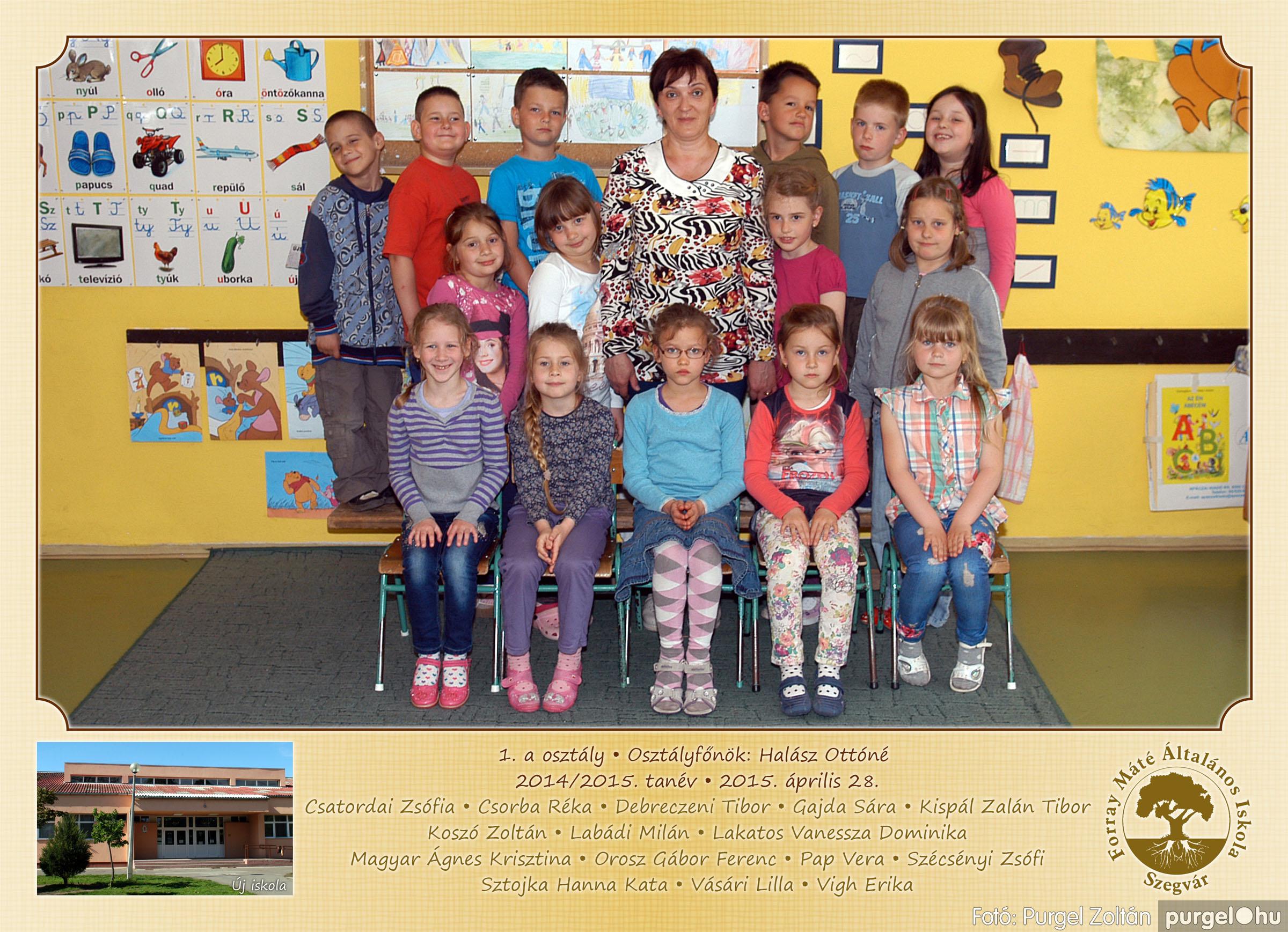 2015.04.28-05.13. 001 Forray Máté Általános Iskola osztályképek 2015. - Fotó:PURGEL ZOLTÁN© 1a-1.jpg