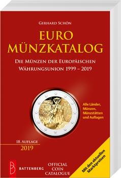 Euro coin catalog book cover