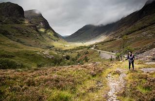 A Walk down Glen Coe Scotland.