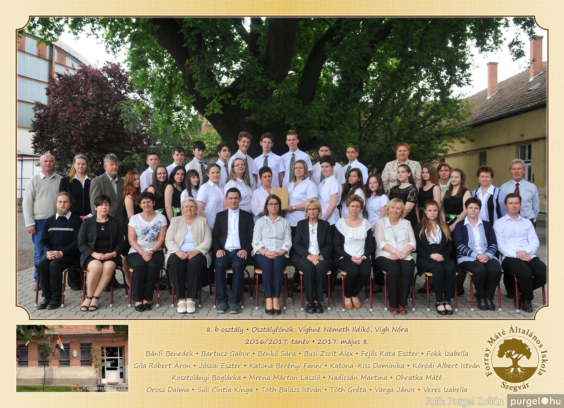 2017.05.08-09. 014 Forray Máté Általános Iskola osztályképek 2017. - Fotó:PURGEL ZOLTÁN© 8.b osztály.jpg
