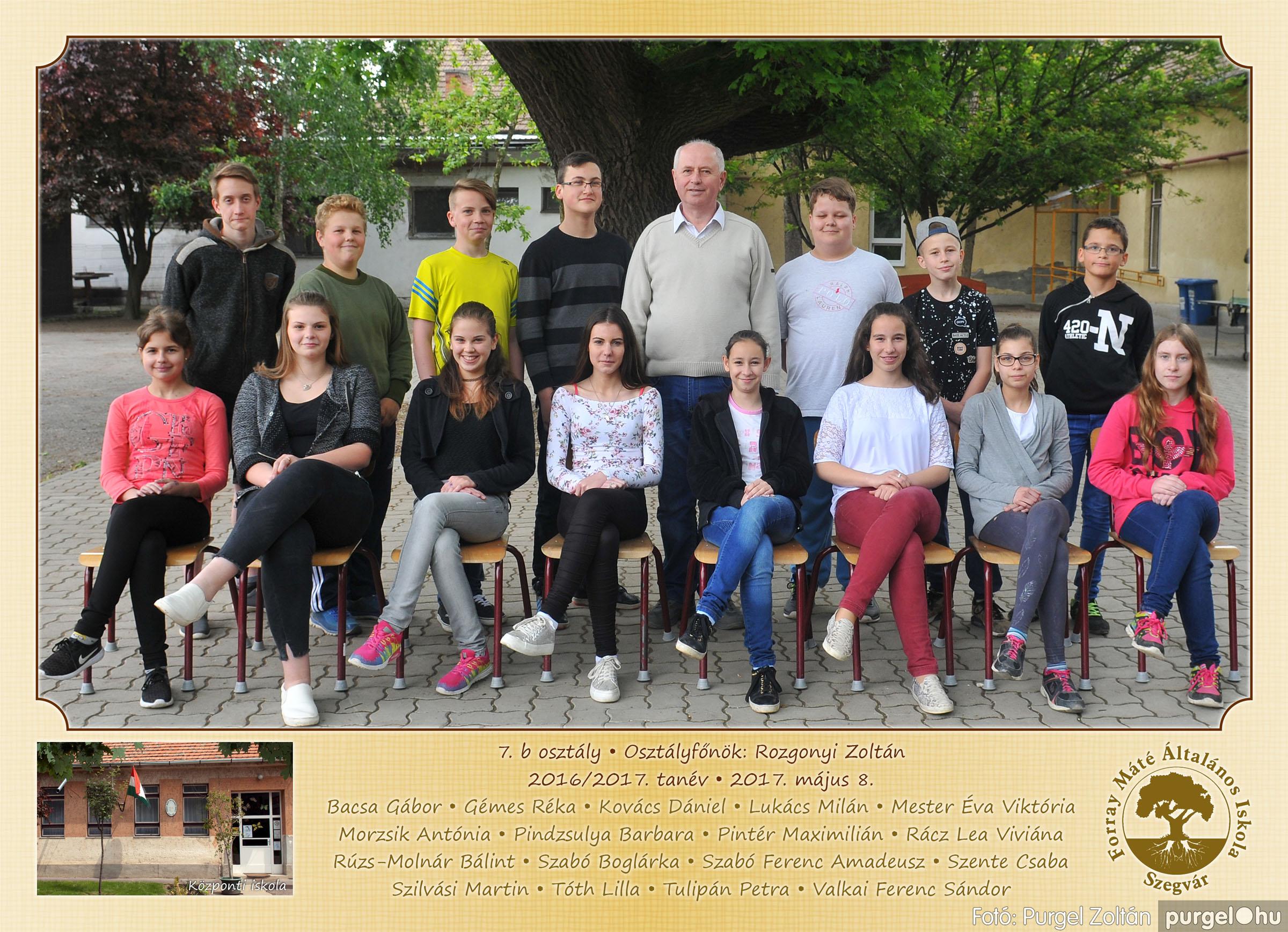 2017.05.08-09. 012 Forray Máté Általános Iskola osztályképek 2017. - Fotó:PURGEL ZOLTÁN© 7.b osztály.jpg
