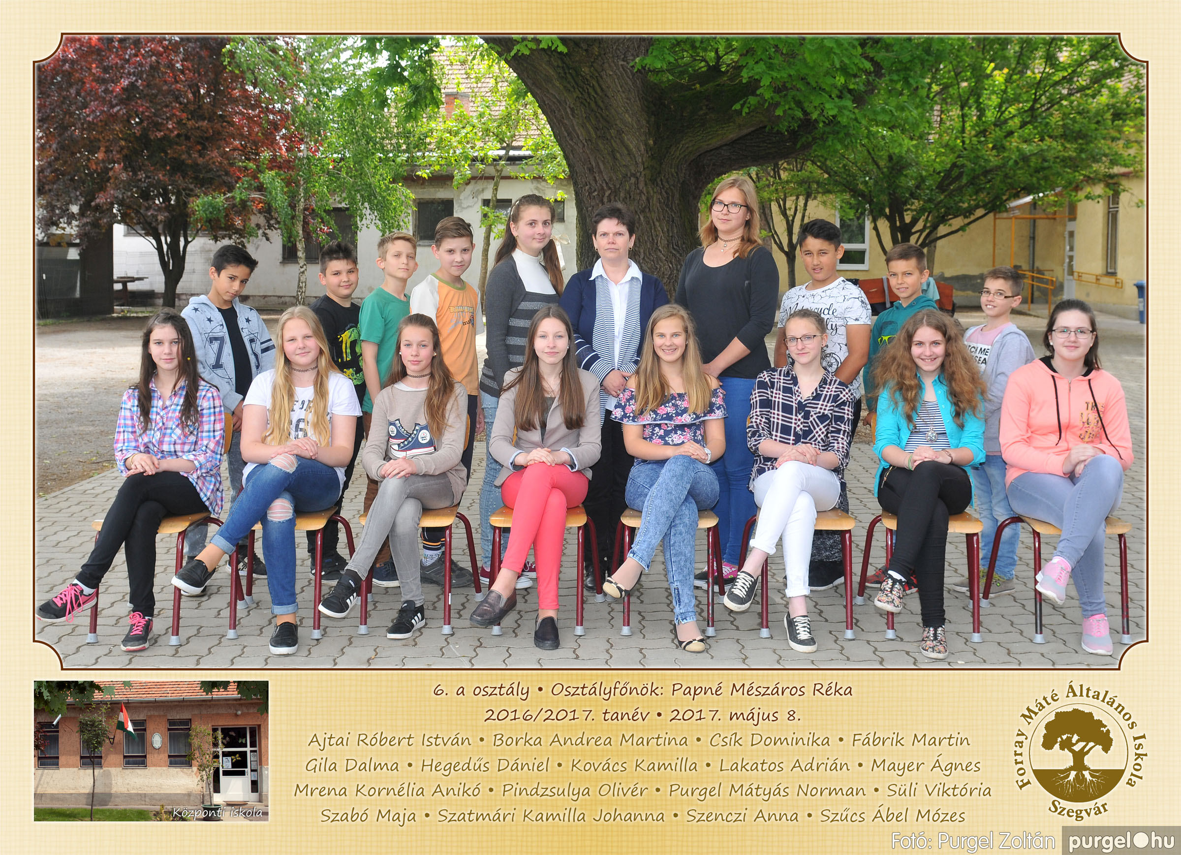 2017.05.08-09. 009 Forray Máté Általános Iskola osztályképek 2017. - Fotó:PURGEL ZOLTÁN© 6.a osztály.jpg