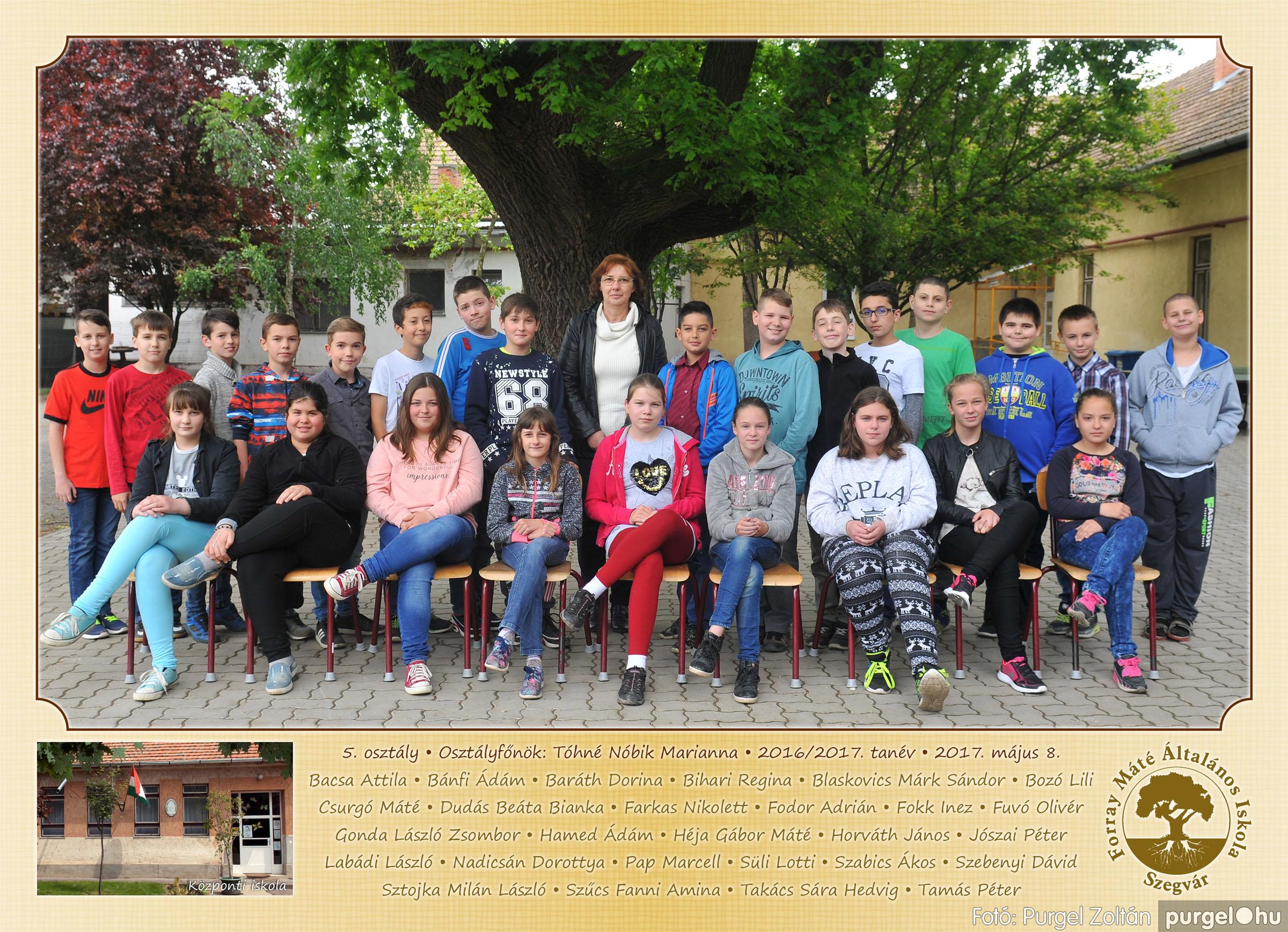 2017.05.08-09. 008 Forray Máté Általános Iskola osztályképek 2017. - Fotó:PURGEL ZOLTÁN© 5. osztály.jpg