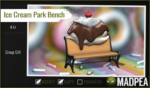 Group Gift: MadPea Ice Cream Park Bench!