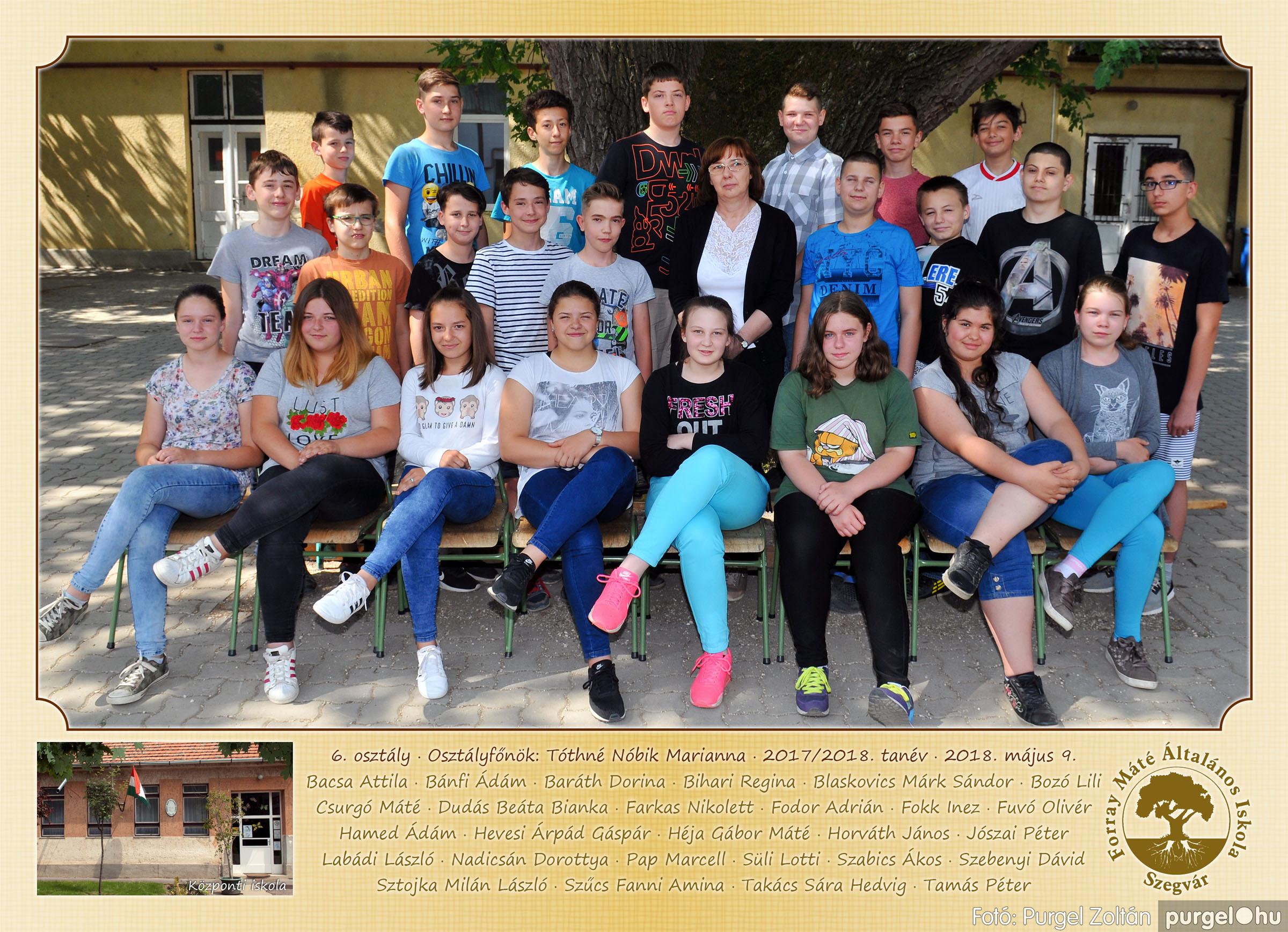 2018.05.08-10. 007 Forray Máté Általános Iskola osztályképek 2018. - Fotó:PURGEL ZOLTÁN© 6. osztály.jpg