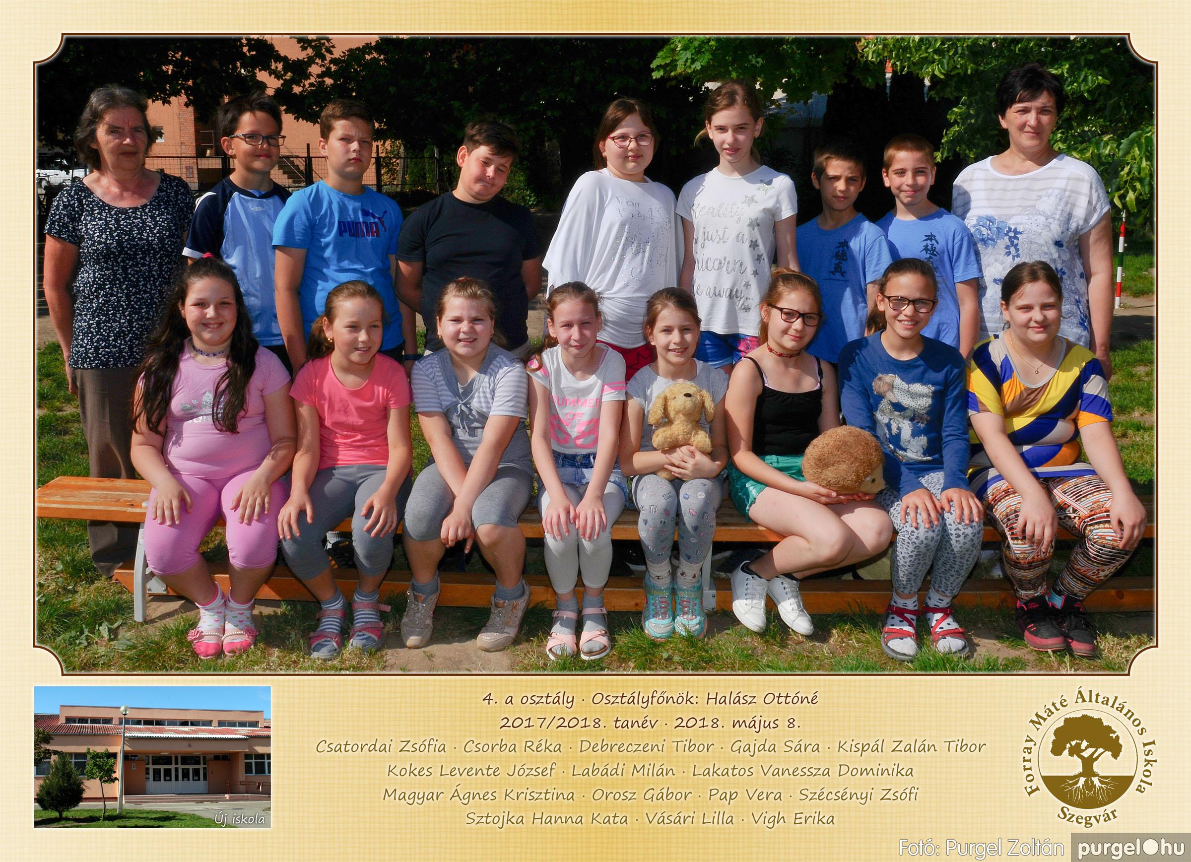 2018.05.08-10. 004 Forray Máté Általános Iskola osztályképek 2018. - Fotó:PURGEL ZOLTÁN© 4.a osztály.jpg