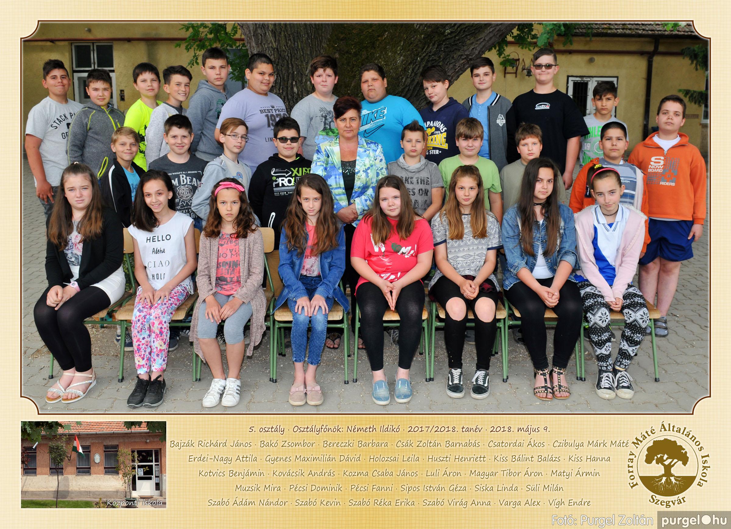 2018.05.08-10. 006 Forray Máté Általános Iskola osztályképek 2018. - Fotó:PURGEL ZOLTÁN© 5. osztály.jpg