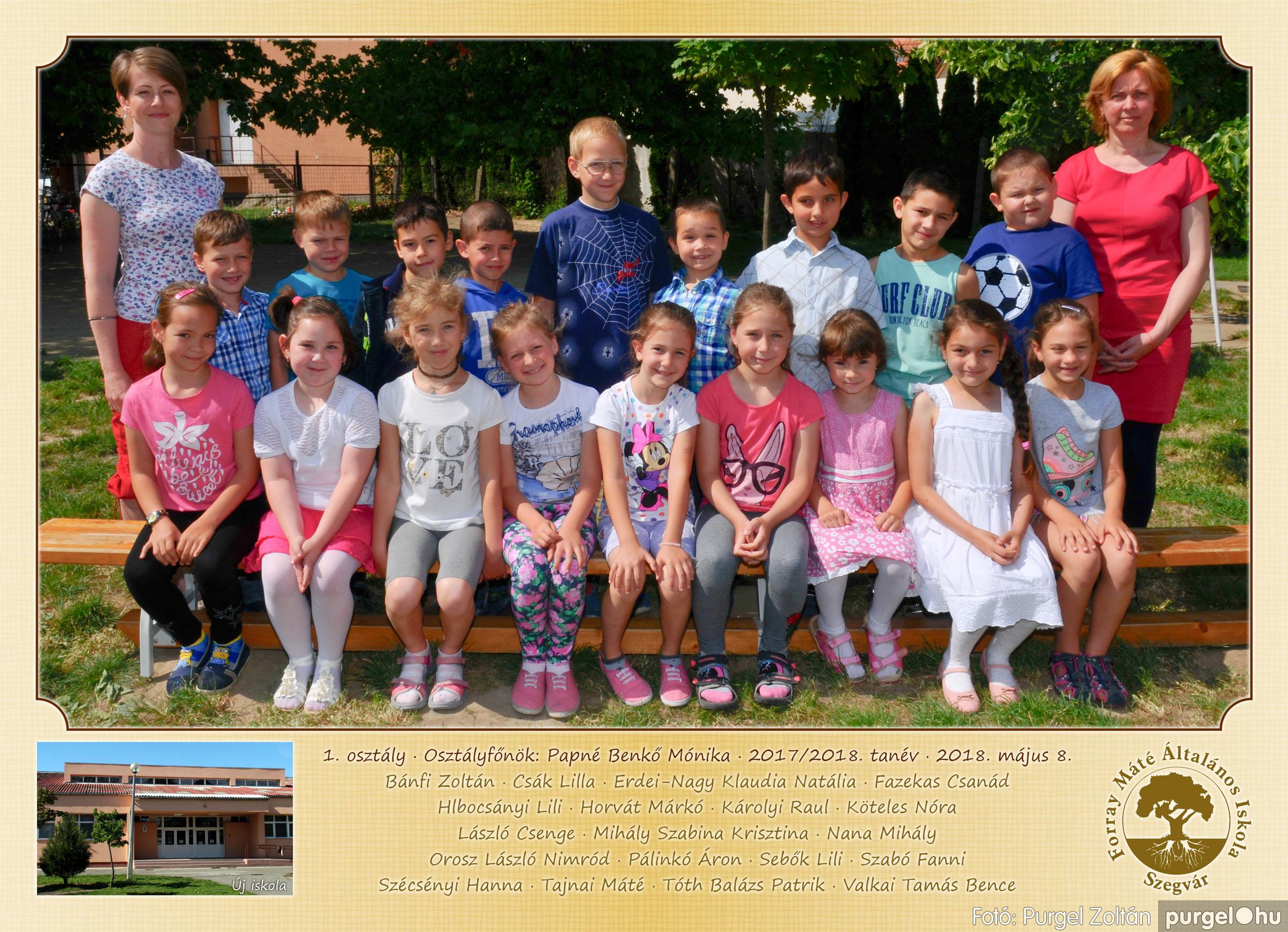 2018.05.08-10. 001 Forray Máté Általános Iskola osztályképek 2018. - Fotó:PURGEL ZOLTÁN© 1. osztály.jpg