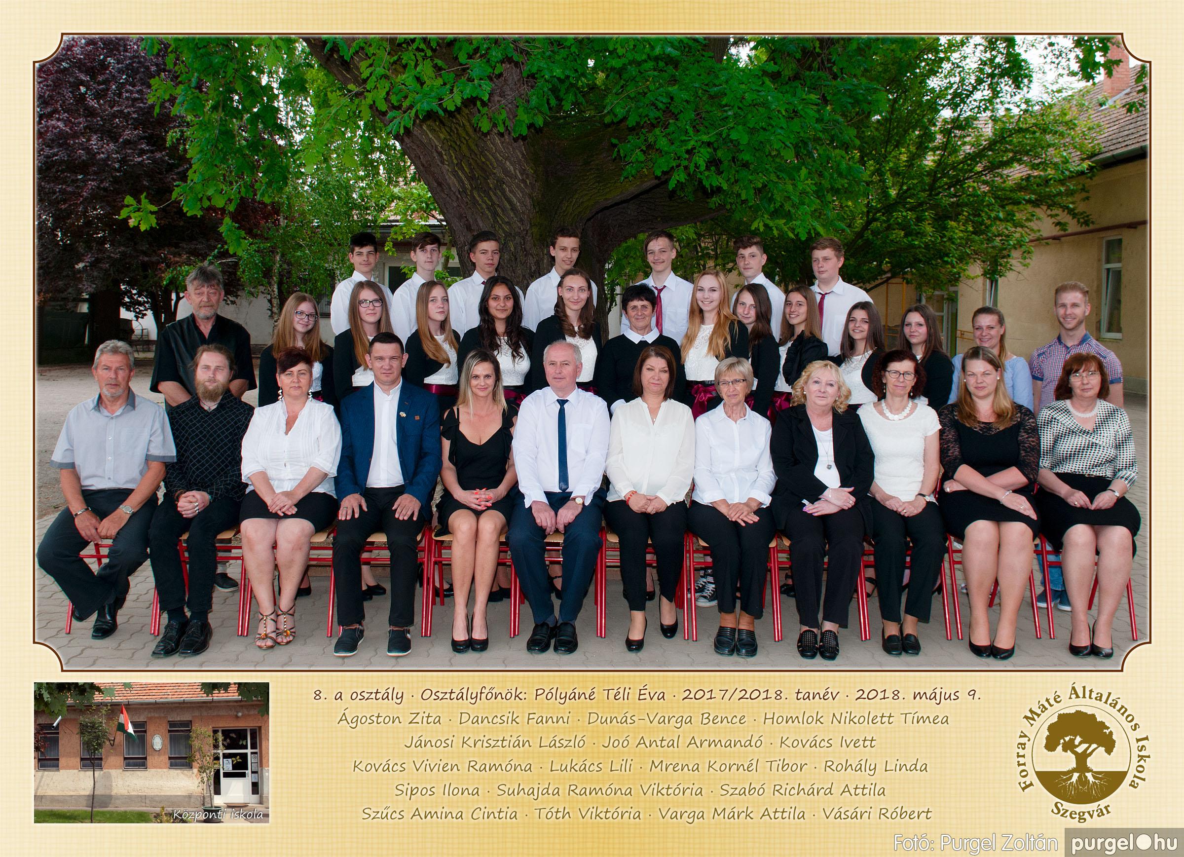 2018.05.08-10. 010 Forray Máté Általános Iskola osztályképek 2018. - Fotó:PURGEL ZOLTÁN© 8.a osztály.jpg