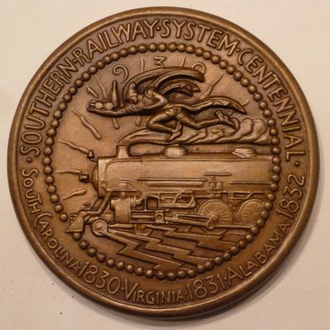 1930 Southern Railway medal by Paul Manship
