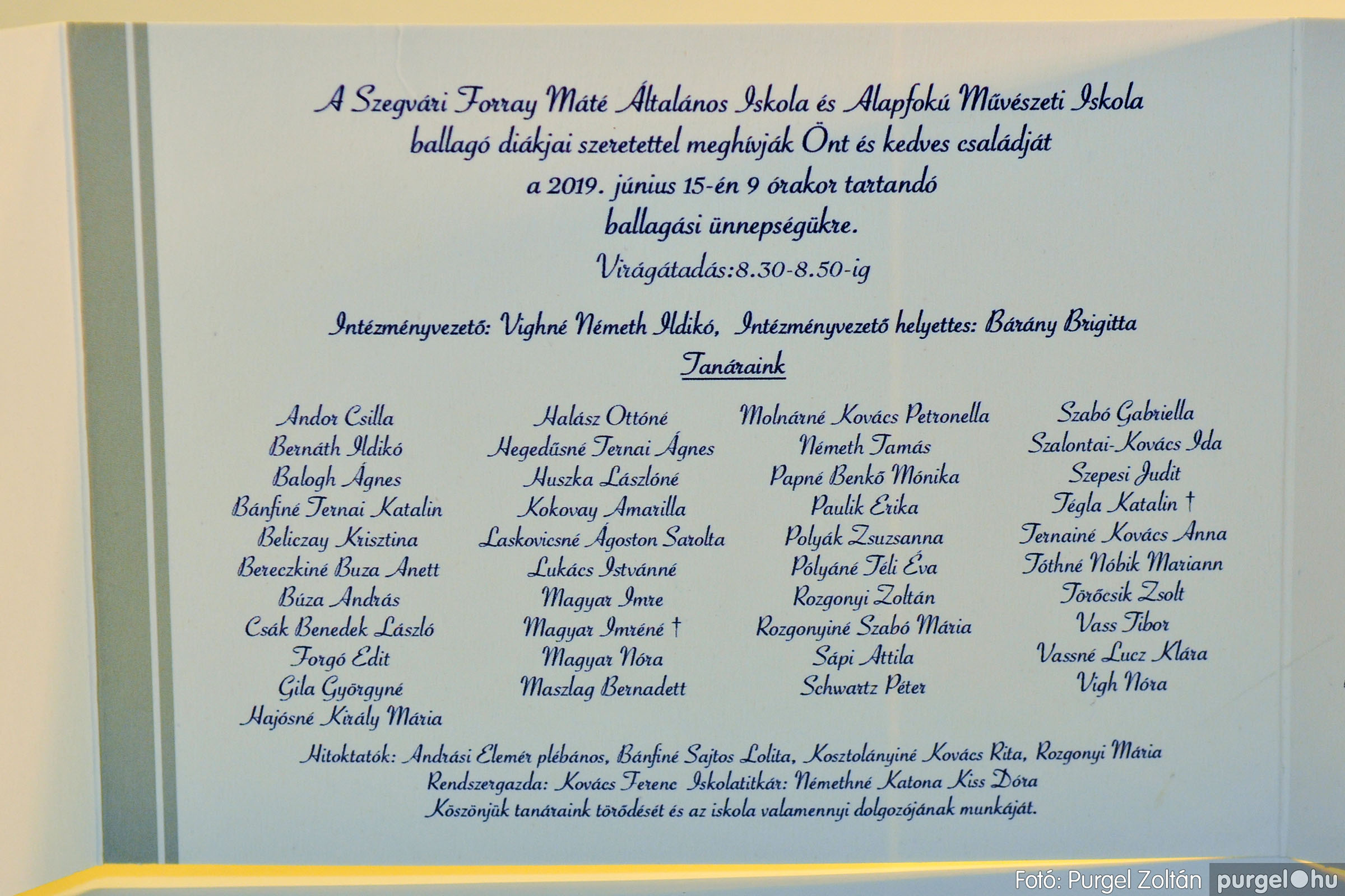 2019.06.15. 000 Forray Máté Általános Iskola ballagási meghívó 2019. - Fotó:PURGEL ZOLTÁN© D3K_7391q.jpg