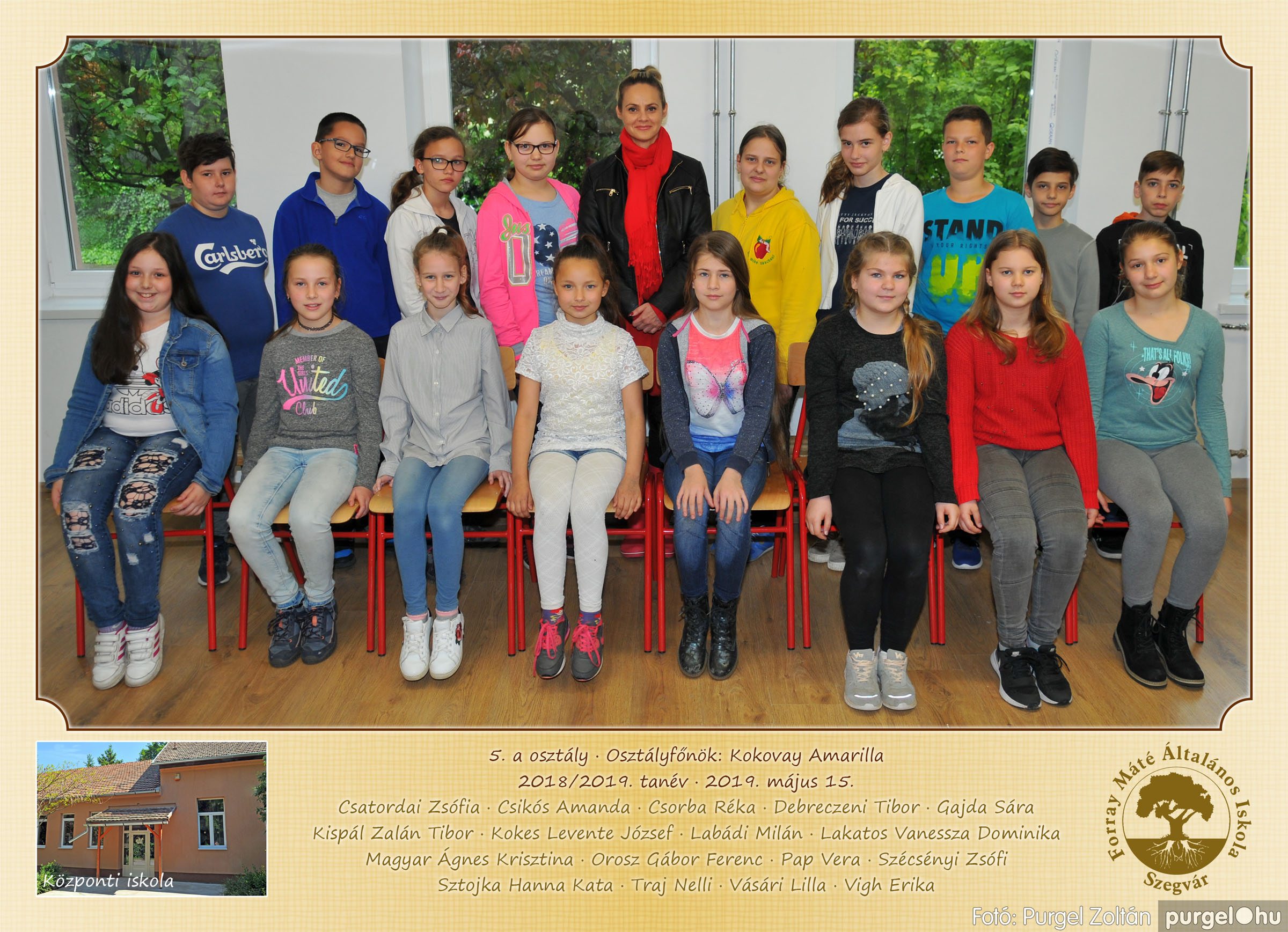 2019.05.14-29. 005 Forray Máté Általános Iskola osztályképek 2019. - Fotó:PURGEL ZOLTÁN© 5a.jpg