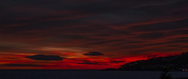 sunset over Almuñecar