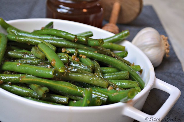 Honey Garlic Green Beans 2