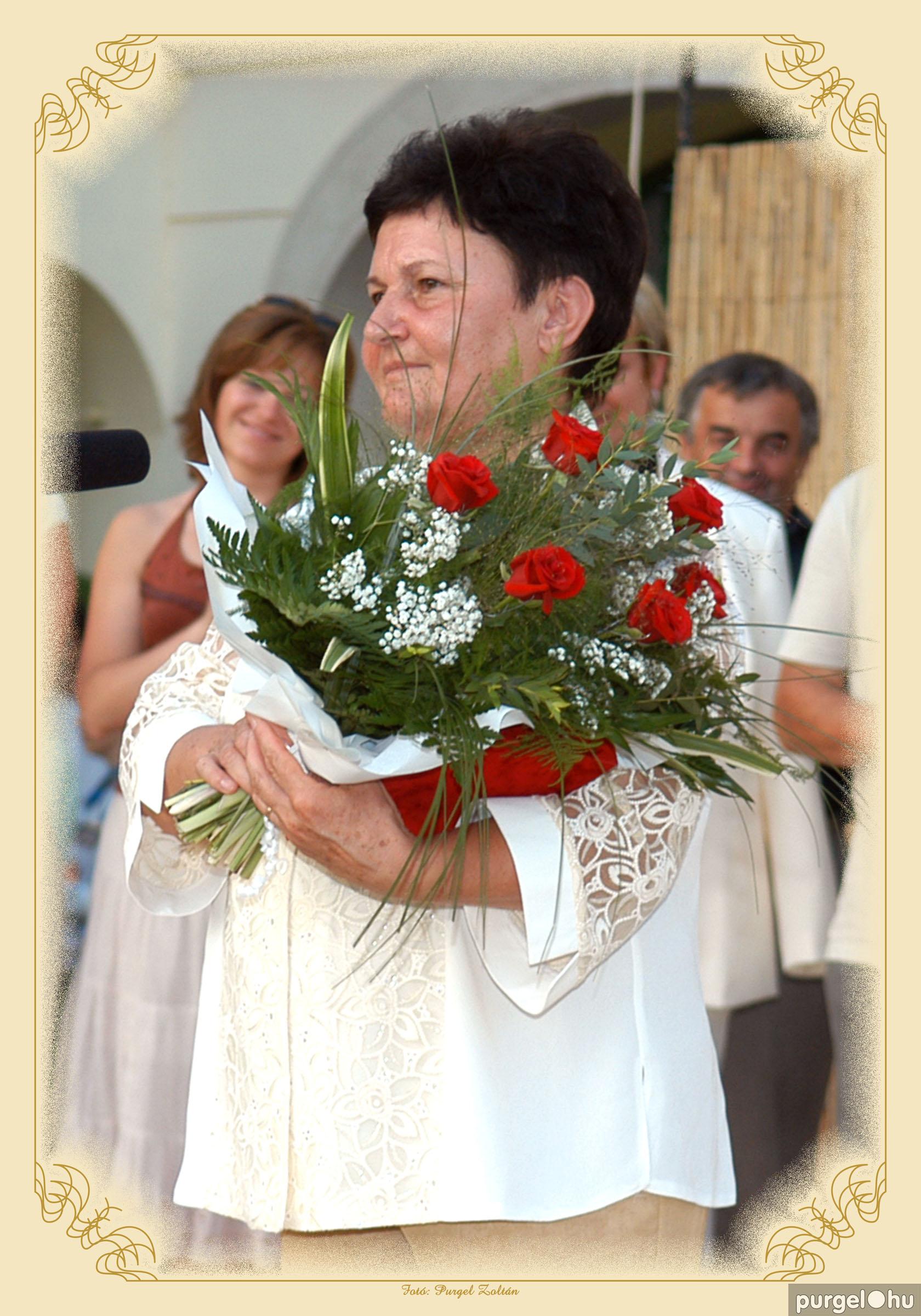 2006. Szenczi Sándorné - Szegvár Díszpolgára 2006. - Fotó:PURGEL ZOLTÁN©.jpg