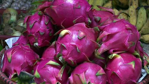 Vietnam - Sapa - Market - Red Pitaya or Dragon Fruit - 65