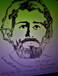 LIFE OF CHRIST INK PORTRAIT