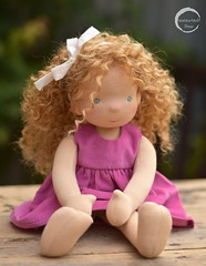 "14"" Waldorf Doll with Wefted Hair by Waldorfdollshop"