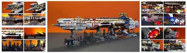 Lego space ship .