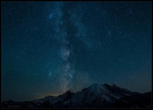 Milky Way and Mt Rainier