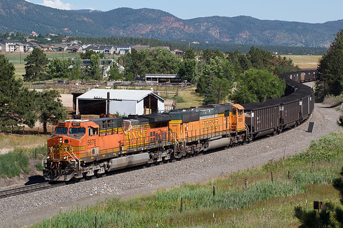 bnsf bnsf5678 ge generalelectric ac4400cw monument colorado jointline rampartrange train railroad