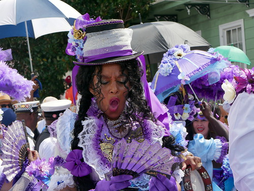 Treme Million Dollar Baby Dolls in the Satchmo Salute Parade for Satchmo Summer Fest on August 4, 2019. Photo by Louis Crispino.