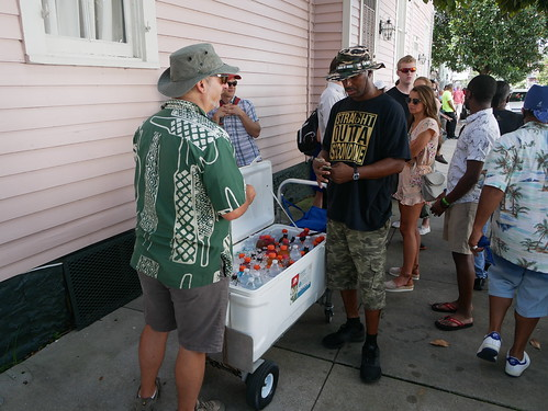 A short break at the Satchmo Salute Parade at Satchmo Summer Fest - August 4, 2019. Photo by Louis Crispino.