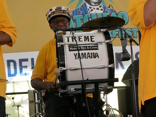 Benny Jones with Treme Brass Band at Satchmo Summer Fest 2019. Photo by Louis Crispino.