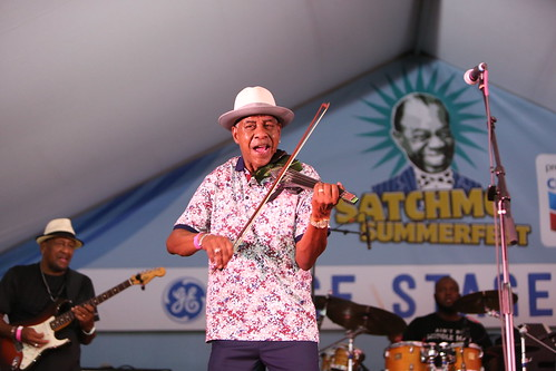 Michael Ward at Satchmo Summer Fest - Aug. 2, 2019. Photo by Michele Goldfarb.
