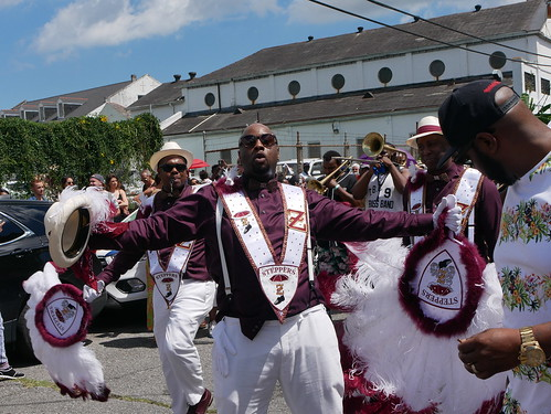 Zulu Steppers in the Satchmo Salute Parade at Satchmo Summer Fest - August 4, 2019. Photo by Louis Crispino.