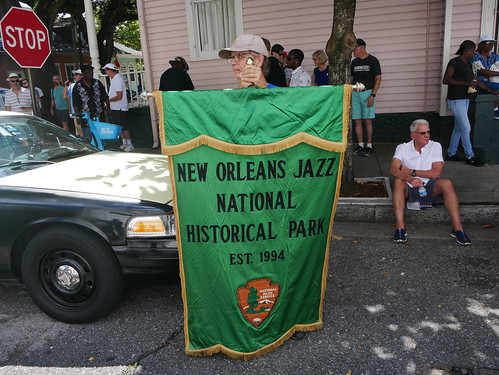 New Orleans Jazz National Historical Park in the Satchmo Salute Parade at Satchmo Summer Fest - August 4, 2019. Photo by Louis Crispino.