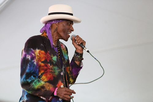 Cyril Neville's Swamp Funk performs at Satchmo Summer Fest - 8.2.19. Photo by Michele Goldfarb.