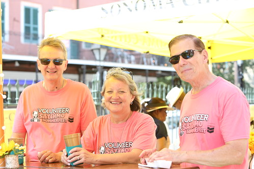 Volunteers at Satchmo Summer Fest - 8.2.19. Photo by Michele Goldfarb.