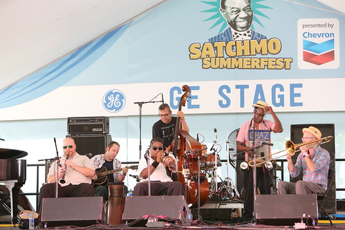 Palmetto Bug Stompers at Satchmo Summer Fest - 8.2.19. Photo by Michele Goldfarb.