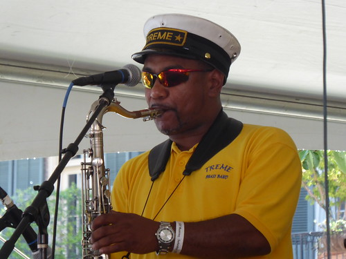 Treme Brass Band at Satchmo Summer Fest 2019. Photo by Louis Crispino.