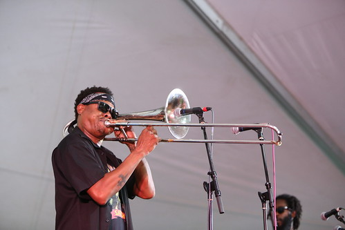 Corey Henry at Satchmo Summer Fest - Aug. 2, 2019. Photo by Michele Goldfarb.
