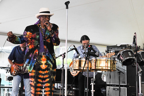 Cryril Neville's Swamp Funk at Satchmo Summer Fest 2019. Photo by Michael E. McAndrew.