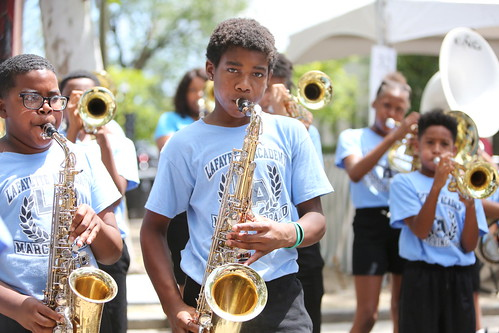 Lafayette Academy Marching Band at Satchmo Summer Fest - 8.3.19. Photo by Michele Goldfarb.