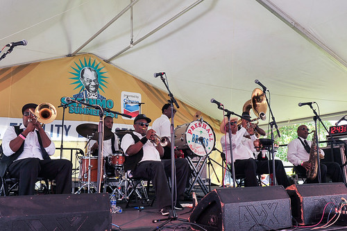 Preservation Brass at Satchmo Summer Fest 2019. Photo by Michael E. McAndrew.