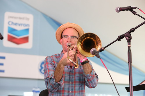 Charlie Halloran performs with the Palm Court Jazz Band at Satchmo Summer Fest - 8.2.19. Photo by Michele Goldfarb.