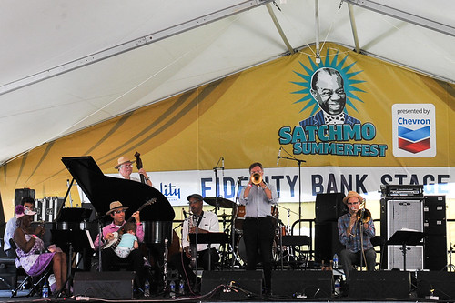 Clive Wilson's New Orleans Serenaders at Satchmo Summer Fest 2019. Photo by Michael E. McAndrew.