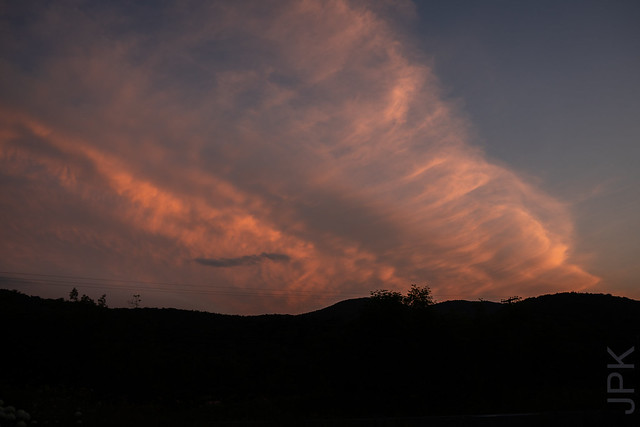 Frontal Boundary / Shelf Cloud over  Western Massachusetts, viewed from southern Vermont