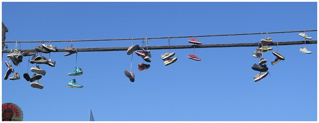 Shoe Display @ Venice Beach, Calif